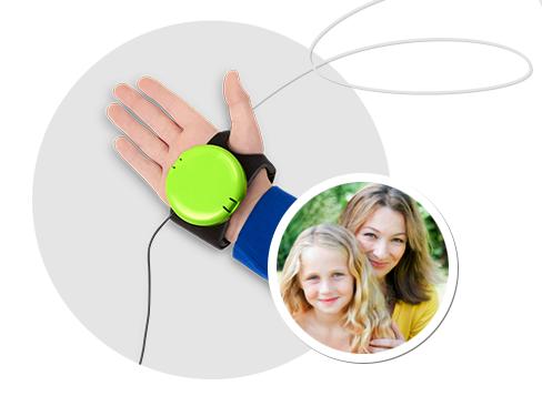 Brain Beat technology worn on someones hand